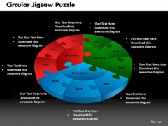 PowerPoint Slide Designs Circular Jigsaw Puzzle Education Ppt Themes