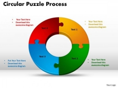 PowerPoint Slide Designs Circular Puzzle Process Marketing Ppt Template