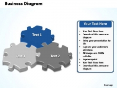 PowerPoint Slide Designs Company Interconnected Puzzle Pieces Business Ppt Slides