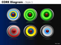 PowerPoint Slide Designs Company Success Core Diagram Ppt Themes