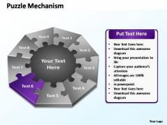 PowerPoint Slide Designs Diagram Puzzle Mechanism Ppt Slide Designs