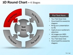 PowerPoint Slide Designs Download Round Process Flow Chart Ppt Template