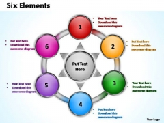 PowerPoint Slide Designs Download Six Elements Ppt Theme