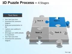PowerPoint Slide Designs Education Puzzle Process Ppt Slides