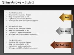 PowerPoint Slide Designs Executive Designs Shiny Arrows 2 Ppt Theme