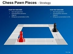 PowerPoint Slide Designs Executive Strategy Chess Pawn Ppt Theme