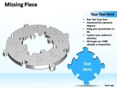 PowerPoint Slide Designs Graphic Circular Missing Puzzle Piece 8 Stages Ppt Design