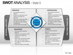 PowerPoint Slide Designs Graphic Swot Analysis Ppt Theme