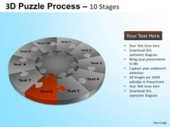 PowerPoint Slide Designs Image Puzzle Segment Pie Chart Ppt Theme