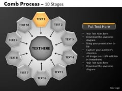 PowerPoint Slide Designs Leadership Hub And Spokes Process Ppt Presentation