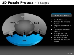 PowerPoint Slide Designs Leadership Pie Chart Puzzle Process Ppt Theme