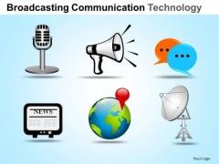 PowerPoint Slide Designs Sales Communication Technology Ppt Process