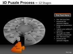 PowerPoint Slide Designs Sales Pie Chart Puzzle Process Ppt Template