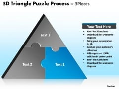 PowerPoint Slide Designs Strategy Triangle Puzzle Ppt Backgrounds