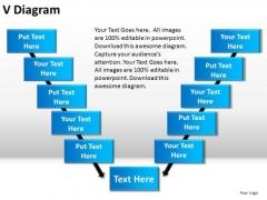 PowerPoint Slide Designs Strategy V Diagram Ppt Slides