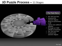 PowerPoint Slide Designs Teamwork Pie Chart Puzzle Process Ppt Theme