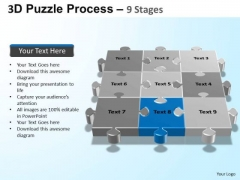 PowerPoint Slide Designs Teamwork Puzzle Process Ppt Themes