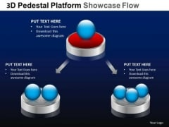 PowerPoint Slide Diagram Pedestal Platform Showcase Ppt Slides