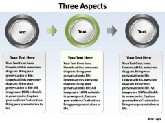 PowerPoint Slide Download Three Aspects Ppt Theme