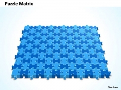 PowerPoint Slide Education 12x11 Rectangular Jigsaw Puzzle Matrix Ppt Theme