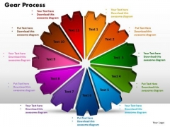 PowerPoint Slide Gear Process Diagram Ppt Design Slides