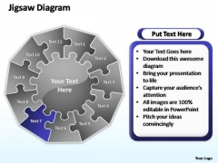 PowerPoint Slide Graphic Multiple Jigsaw Ppt Slides