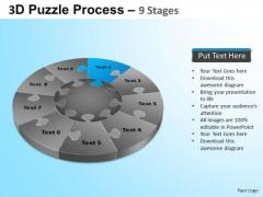 PowerPoint Slide Graphic Puzzle Segment Pie Chart Ppt Templates