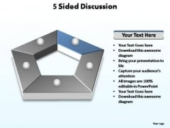 PowerPoint Slide Graphic Sided Discussion Ppt Template