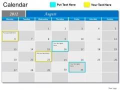 PowerPoint Slide Growth Blue Calendar 2012 Ppt Slide