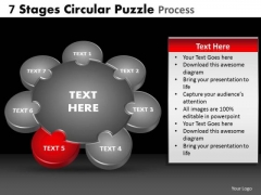 PowerPoint Slide Image Circular Puzzle Ppt Process
