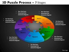 PowerPoint Slide Image Pie Chart Puzzle Process Ppt Slide