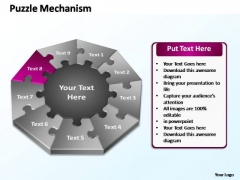 PowerPoint Slide Image Puzzle Mechanism Ppt Theme