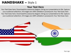 PowerPoint Slide India Usa Teamwork Handshake Ppt Slides