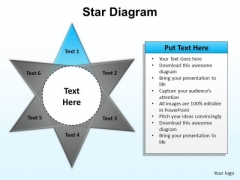 PowerPoint Slide Layout Chart Star Diagram Ppt Template