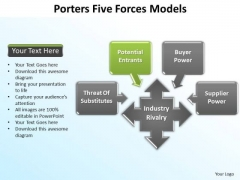 PowerPoint Slide Layout Leadership Porters Forces Ppt Design