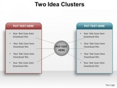 PowerPoint Slide Layout Leadership Two Idea Clusters Ppt Design