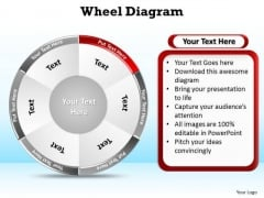 PowerPoint Slide Layout Leadership Wheel Diagram Ppt Slides