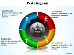 PowerPoint Slide Layout Strategy Pest Diagram Ppt Backgrounds