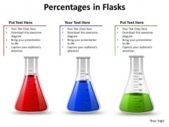 PowerPoint Slide Layout Success Percentages In Flasks Ppt Template