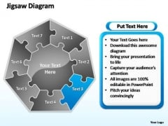 PowerPoint Slide Layout Teamwork Jigsaw Ppt Template