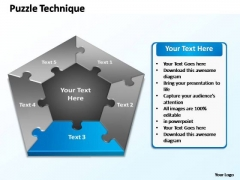 PowerPoint Slide Layout Teamwork Puzzle Technique Ppt Template
