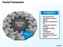 PowerPoint Slide Leadership Puzzle Framework Ppt Template