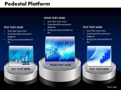 PowerPoint Slide Pedestal Platform Growth Ppt Slides