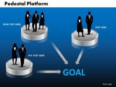 PowerPoint Slide Pedestal Platform Success Ppt Template
