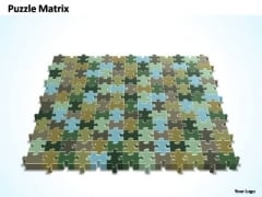 PowerPoint Slide Process 13x12 Rectangular Jigsaw Puzzle Matrix Ppt Theme