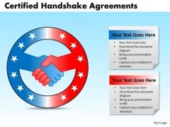 PowerPoint Slide Process Certified Handshake Ppt Designs