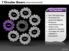 PowerPoint Slide Sales Circular Gears Ppt Slide