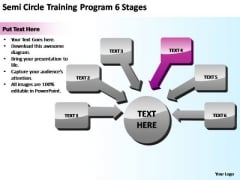 PowerPoint Slide Semi Sales Circle Training Ppt Template