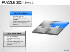 PowerPoint Slide Showing 4 Puzzles Connected Ppt Diagram