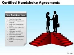 PowerPoint Slide Strategy Certified Handshake Ppt Presentation
